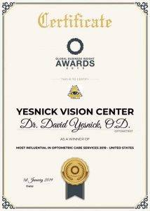 2019 Most Influential in Optometric Care Services 2019   United States